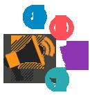 Redes sociais integradas na criação do site